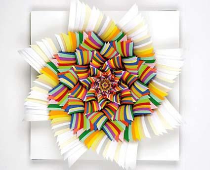 Meet one of miami s top contemporary artist jen stark for 3d paper craft ideas from jen stark