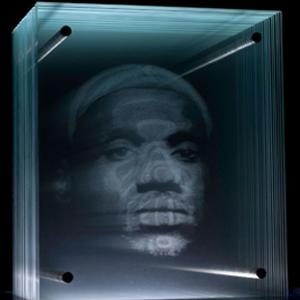 lebron glass portrait