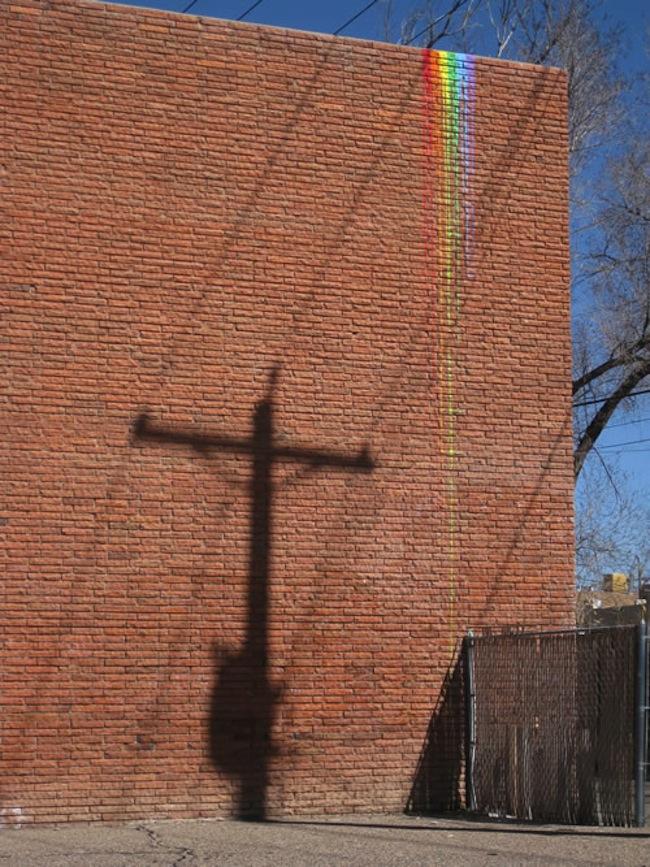 rainbow street art