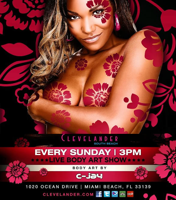 LIVE BODY PAINTING AT THE CLEVELANDER MIAMI Art Of Miami