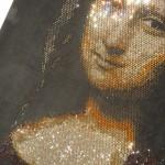 mona lisa with diamonds