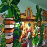 school mural miami PALM TREE WITH STRIPES
