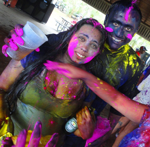 miami indian people with powdered colors on face