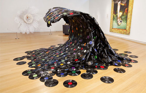 WAVE MADE OUT OF OLD RECORDS