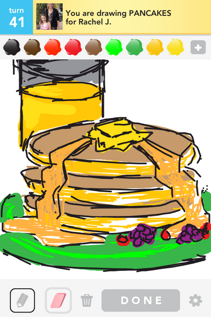 pancakes draw something
