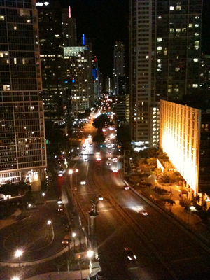 scenic route miami at night