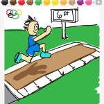 long jump draw some thing