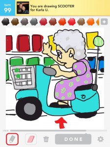 draw something: scooter