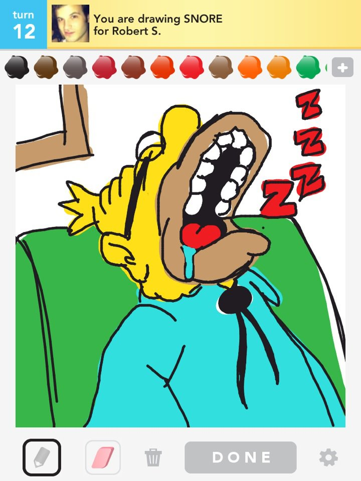 Draw Something: snore