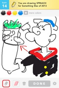 Draw Something: spinach