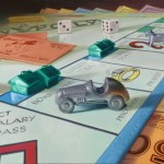 photo realism painting with monopoly