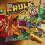 photo realism painting with cheetos and hulk