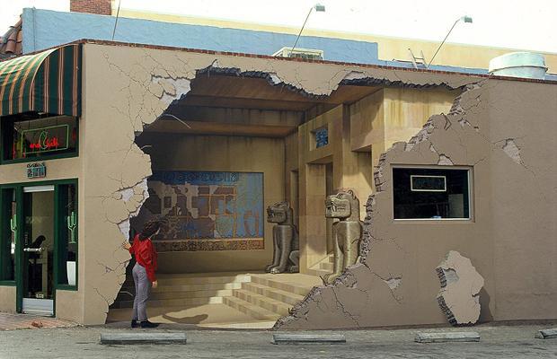 illusion mural