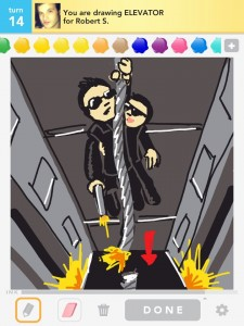 Draw Something: elevator
