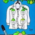 guayavera shirt painting hispanic shirt
