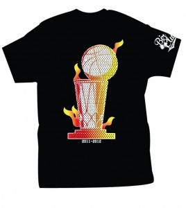 miami heat championship trophy t-shirt 2012