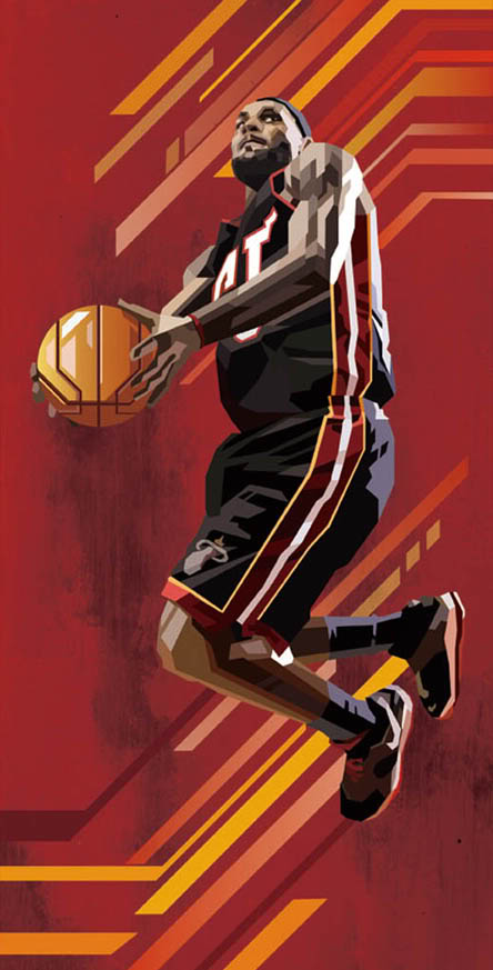 geometric lebron james