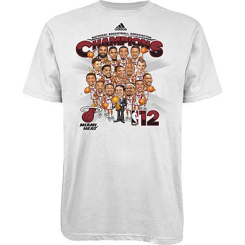miami heat championship t-shirts 2012