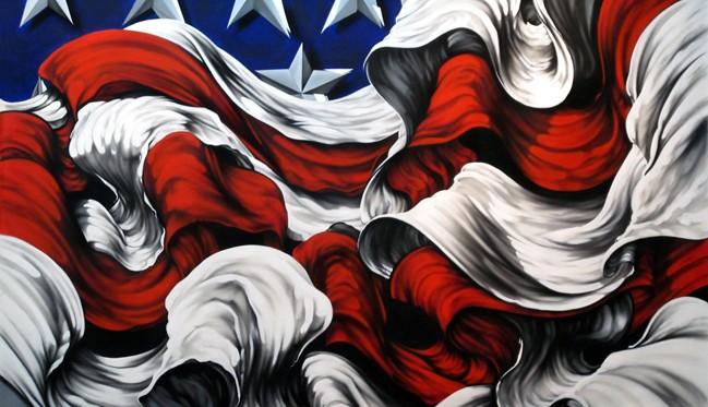Patriotic Art by Miami-based Erni Vales » Art of Miami Famous American Flag Art