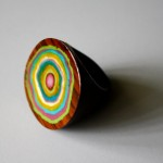 miniature masterpiece in hand painted rainbow wooden ring