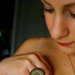 miniature masterpiece in hand painted wooden ring