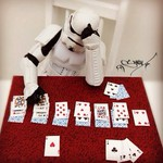 storm trooper playing solitary