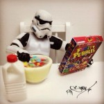 white star wars bad guy eating cereal