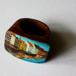 wooden custom ring hand painted