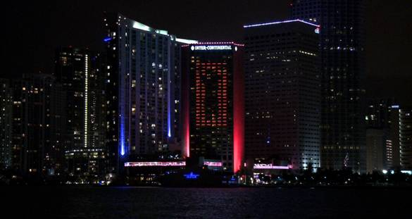Intercontinental Miami lights up the skyline with giant LED digital canvas.