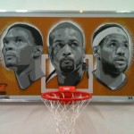 miami heat big 3 art