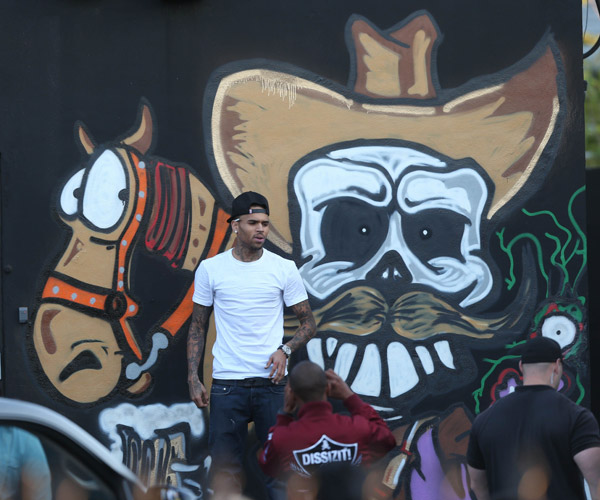 chris brown mural and art