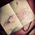 female sketchbook