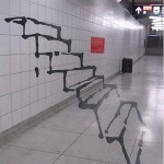 illusion art of staircase