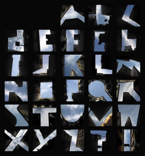 letters with buildings