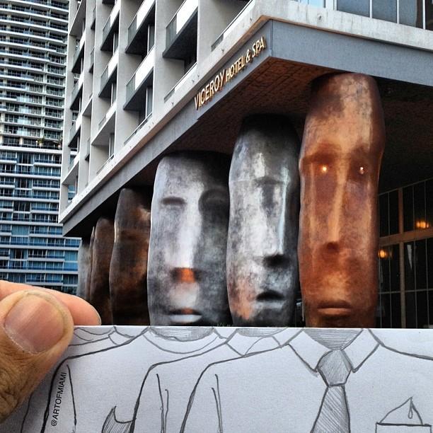 FUNNY ART public art picture miami