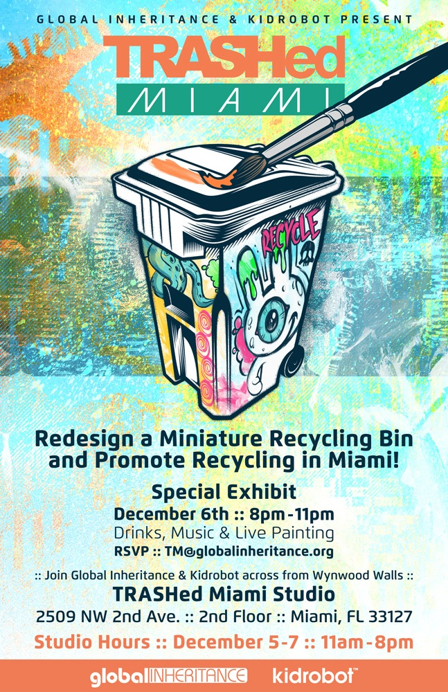 trash art bins miami