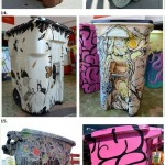artistic trash bins