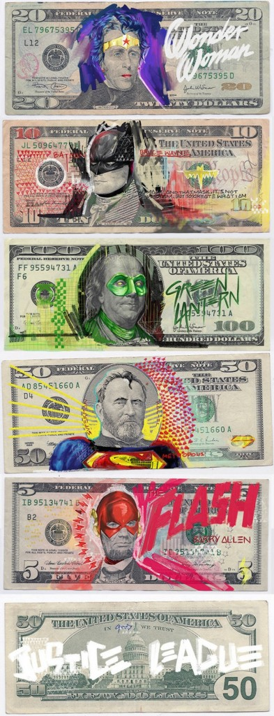 benjamin franklin superhero money by Aslan Malik