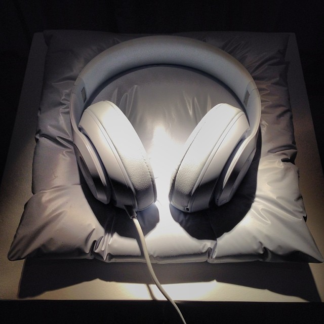 white beats by dre by daniel arsham