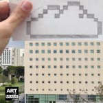 ARQUITECTONICA FIU SCHOOL OF PUBLIC AFFAIRS WITH PIXELATED CLOUD