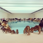 animals drinking together by Chinese artist Cai Guo-Qiang