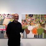 Artist Aremis O'reilly in front of his work pic by Harold Rosairo