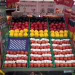 usa flag made of fruits