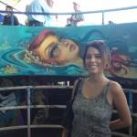 Artist Tatiana Suarez at Miami Marine Stadium