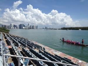Miami Skyline View form the Miami Marine Stadium pic by Harold Rosario