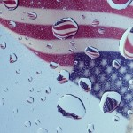 American Flags thru Moonroof of the MKZ picture by Harold Rosario @artofmiami