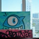Piece by Spanish artist Pez at Alex MIjares Studios