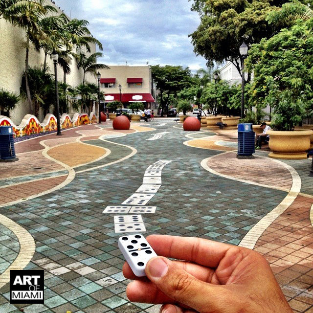 forced perspective domino park miami
