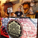 Shepard fairey DJing in wynwood