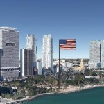 huge american flag miami